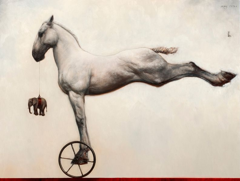 Horse with Wheel - Artist: James McLaughlin Way