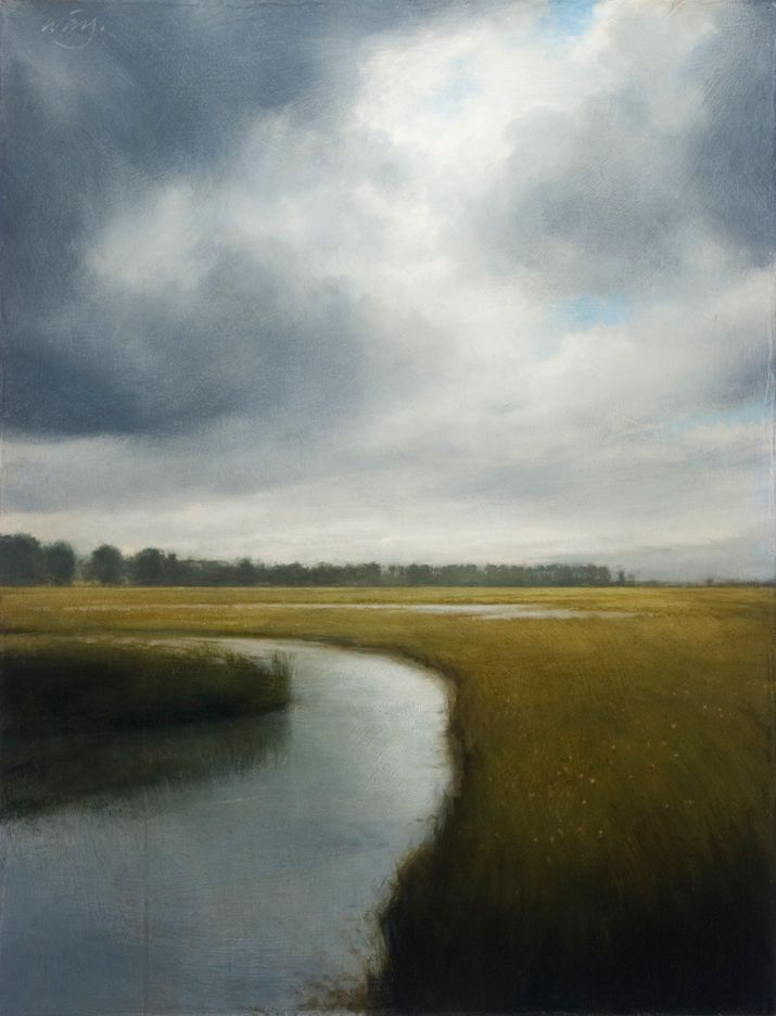 Storm Over the Marsh - Artist: James McLaughlin Way
