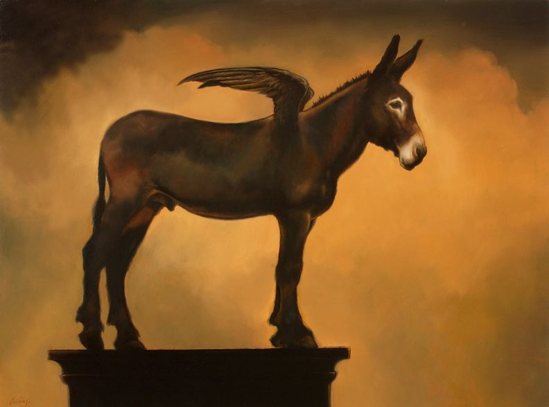 Donkey with Wing - Artist: James McLaughlin Way
