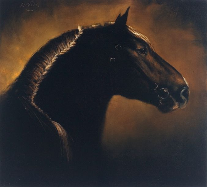 Horse Head with Braid - Artist: James McLaughlin Way