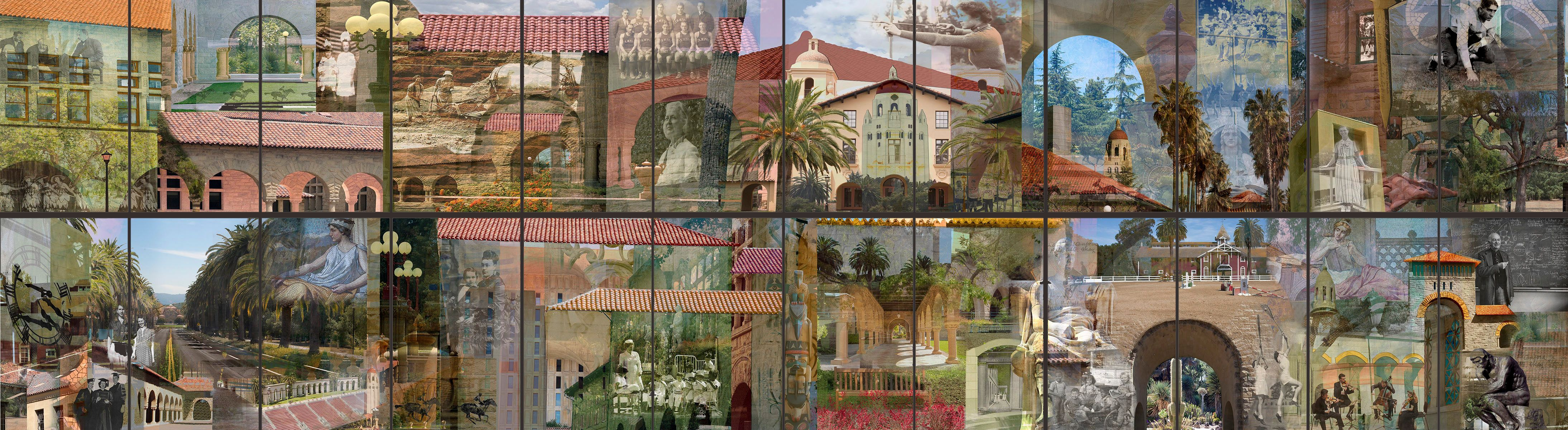 Campus  History (detail of individual panels)