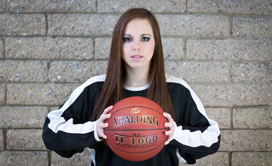 Tucson high school senior basketball portrait
