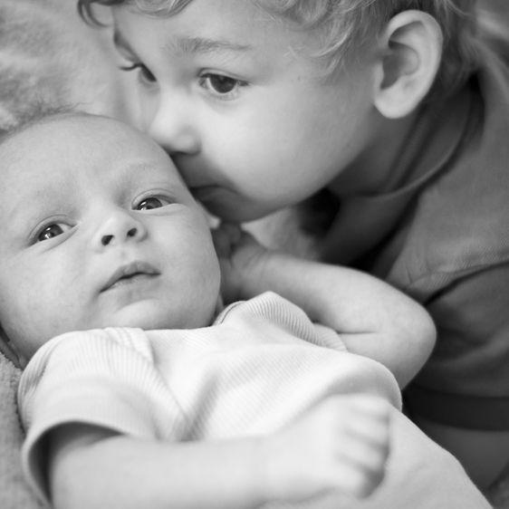 Tucson newborn baby sibling photography