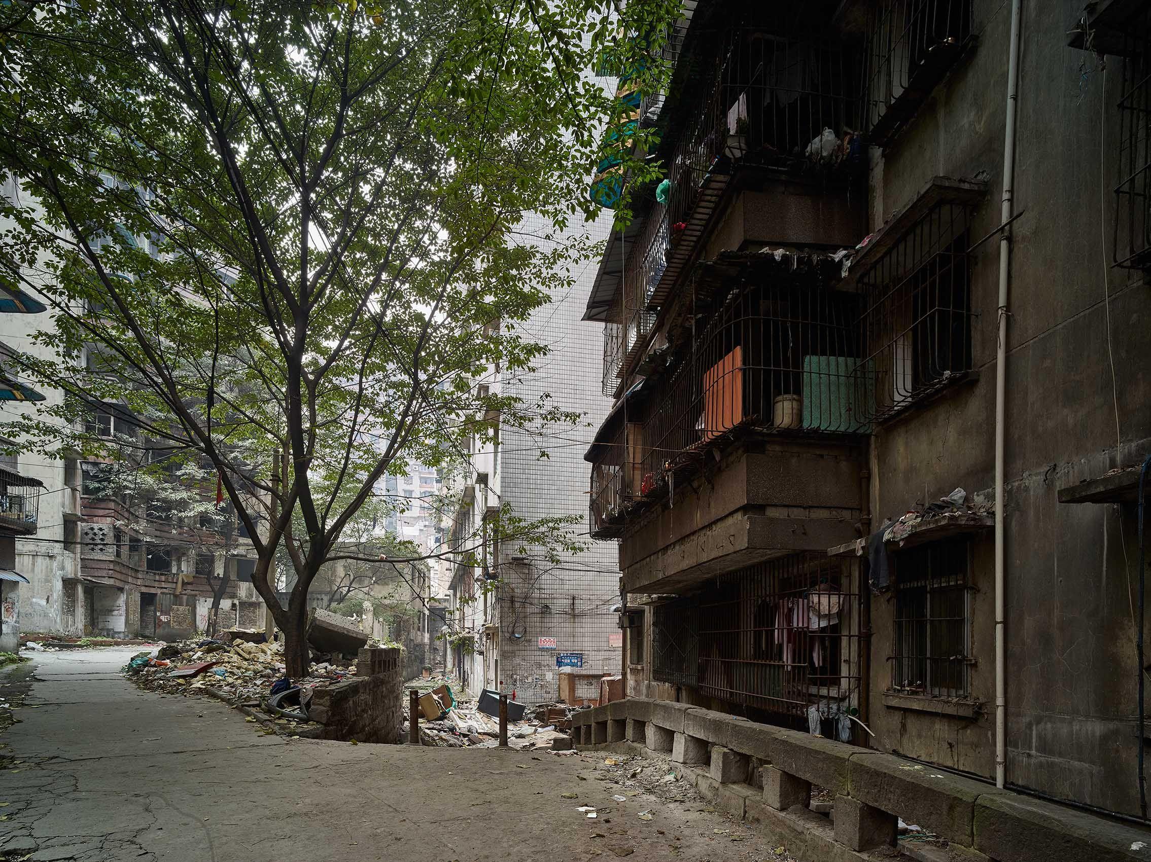 Decaying buildings in Chongqing