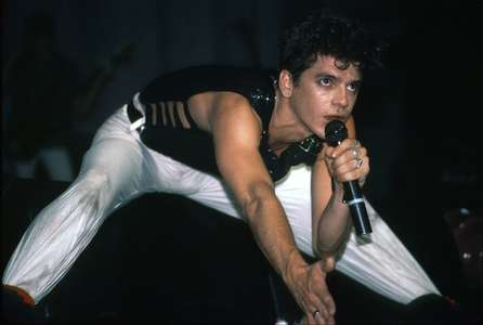 Michael Hutchinson with Inxs The Ritz NYC 1983