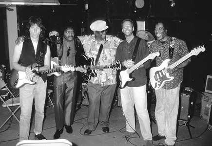 Jeff BeckAlbert CollinsB. B. KingEric Clapton and Buddy Guy Apollo TheaterNYC 1993