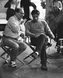 Sidney Lumet andAndy Garcia,Night Falls on Manhattan,1 Police Plaza,NYC 1996