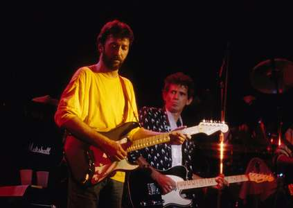 Eric Claptonand Keith RichardsThe RitzNYC 1986