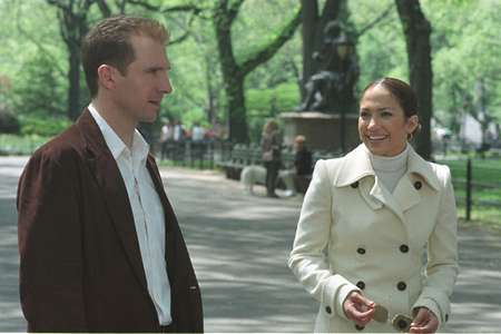 Ralph Fiennesand Jennifer Lopez, Maid In Manhattan, NYC 2001