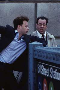 Tom Hanks and Bruce WillisBonfire of the VanitiesThe Bronx, NYC 1989