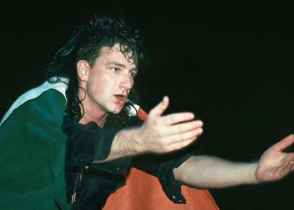 Bono with U2Madison Square GardenNYC 1983