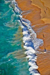 Above Sandy Beach, Oahu from 500 feet.