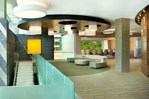 """ Commercial photography of CAMLS Medical Building conference area."