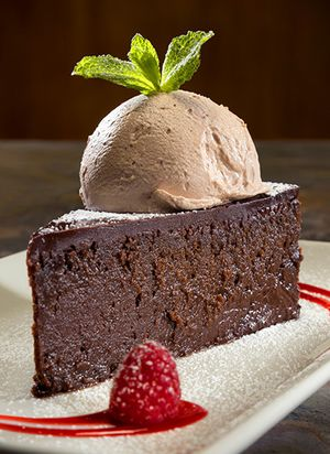 Decadant chocolate by Florida commercial food photographer