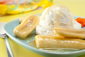 Bananas foster by Florida commercial food photographer