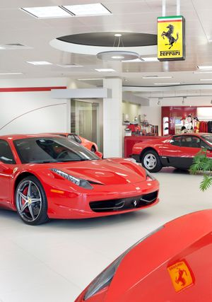 Ferrari Dealership by Florida architectural photographer