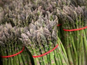 Market asparagus by Florida commercial food  photographer