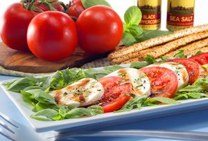 Patrick Square Community Advertising Caprese Salad by Florida commercial food photographer