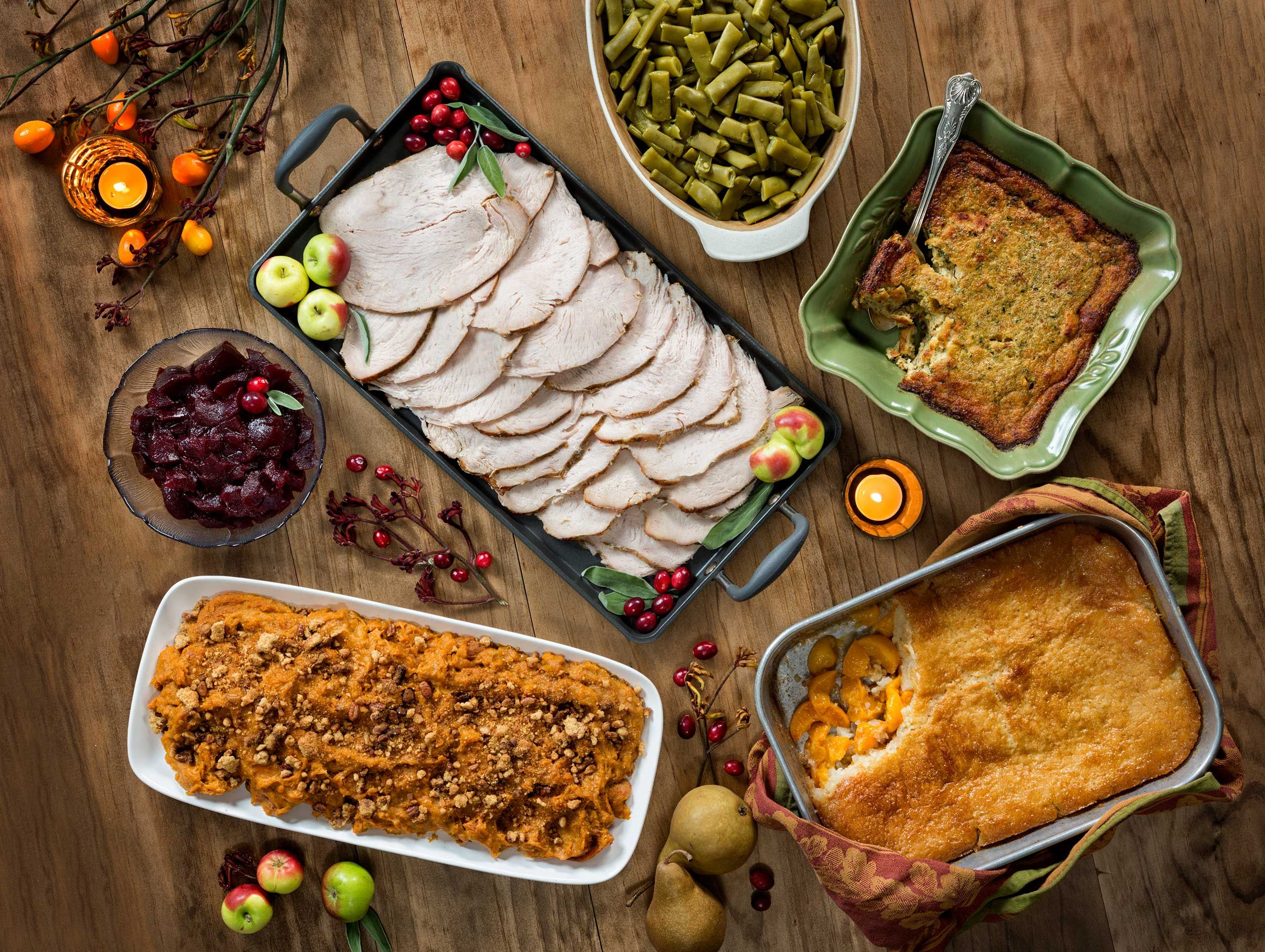 Fred's Market Thanksgiving by Florida commercial food  photographer