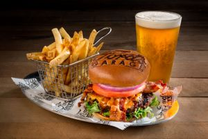 Ford's Garage Signature Burger by Florida commercial food photographer