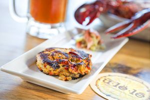 Lobster Cake by Florida commercial food photographer