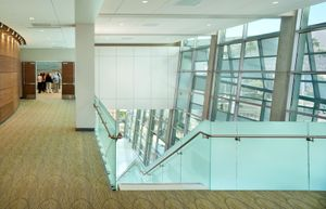 Commercial photography of CAMLS Medical Building lobby.