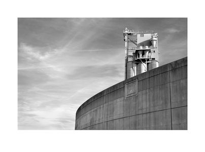 Flood Wall and Southern States Silos