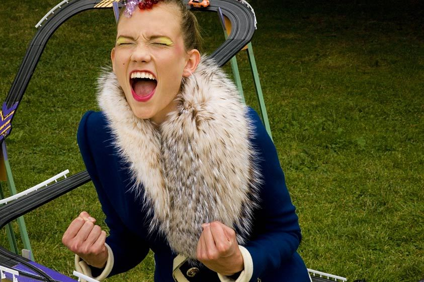 Karlie Kloss wearing Balenciaga.
