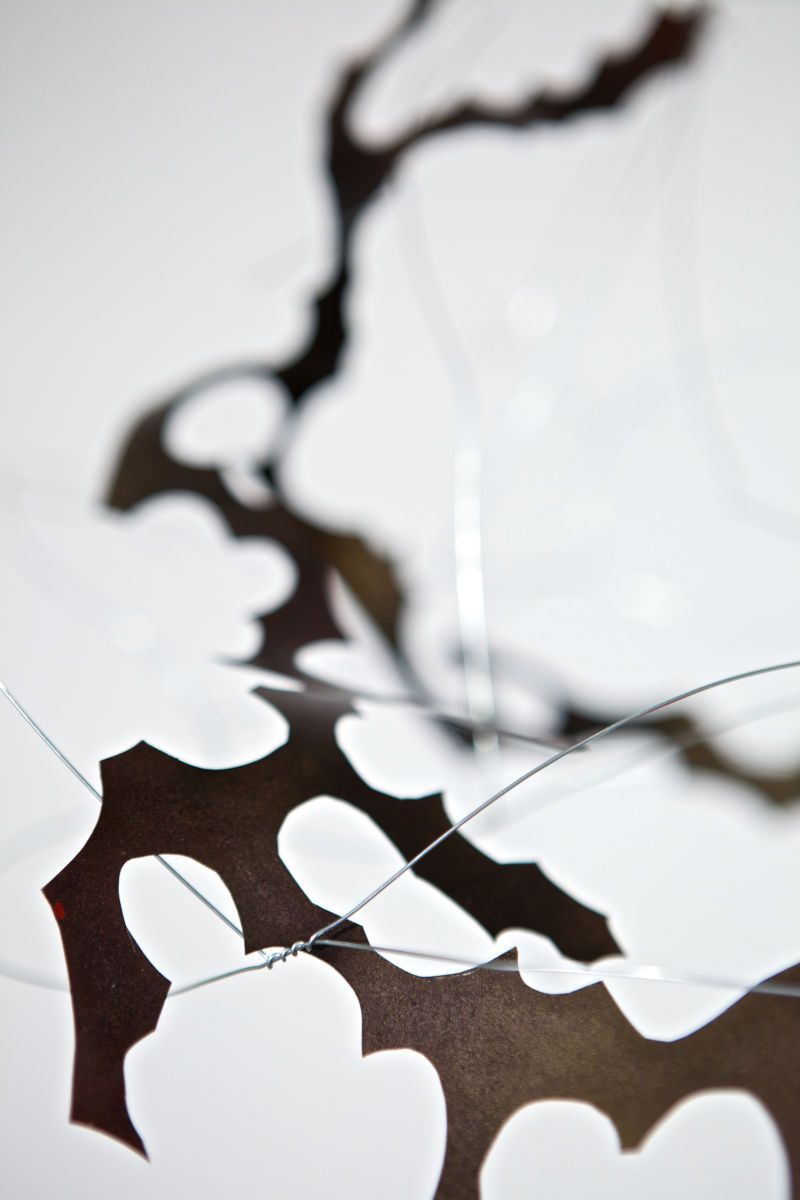 Untitled detail (hanging wire piece)