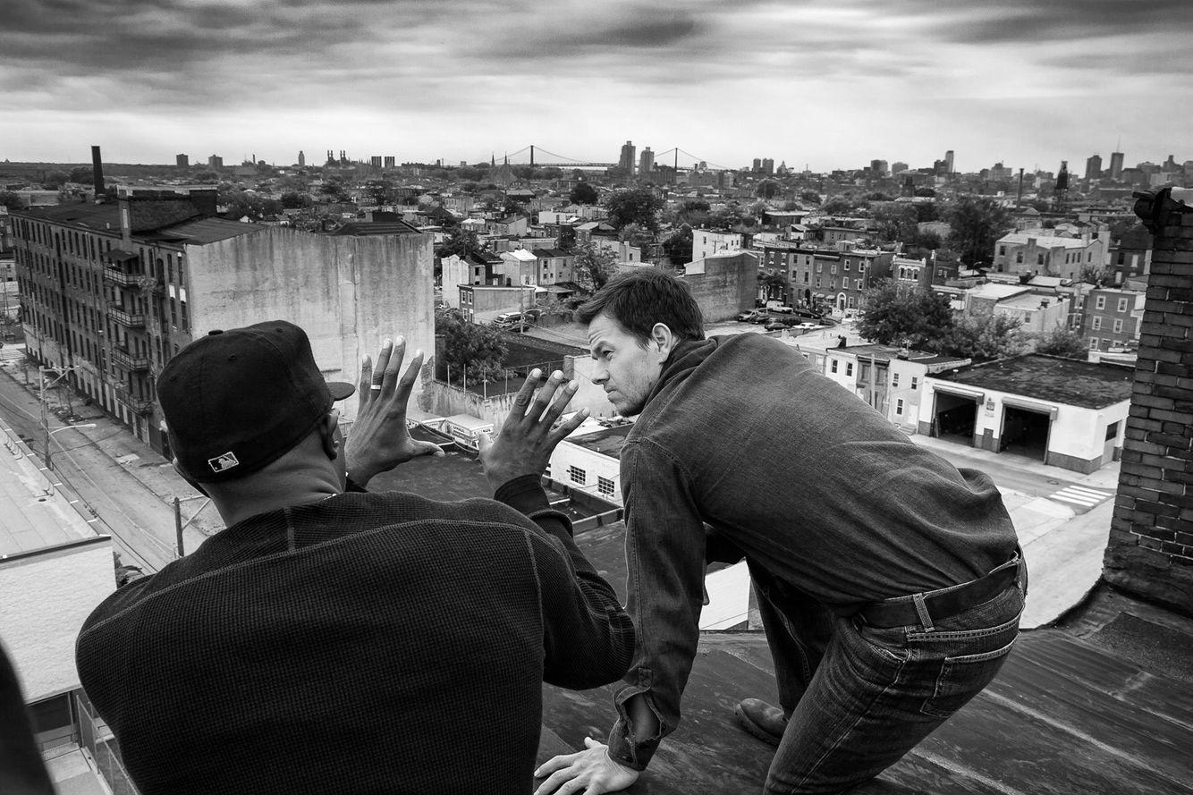 Antoine Fuqua & Mark Wahlberg in Philadelphia
