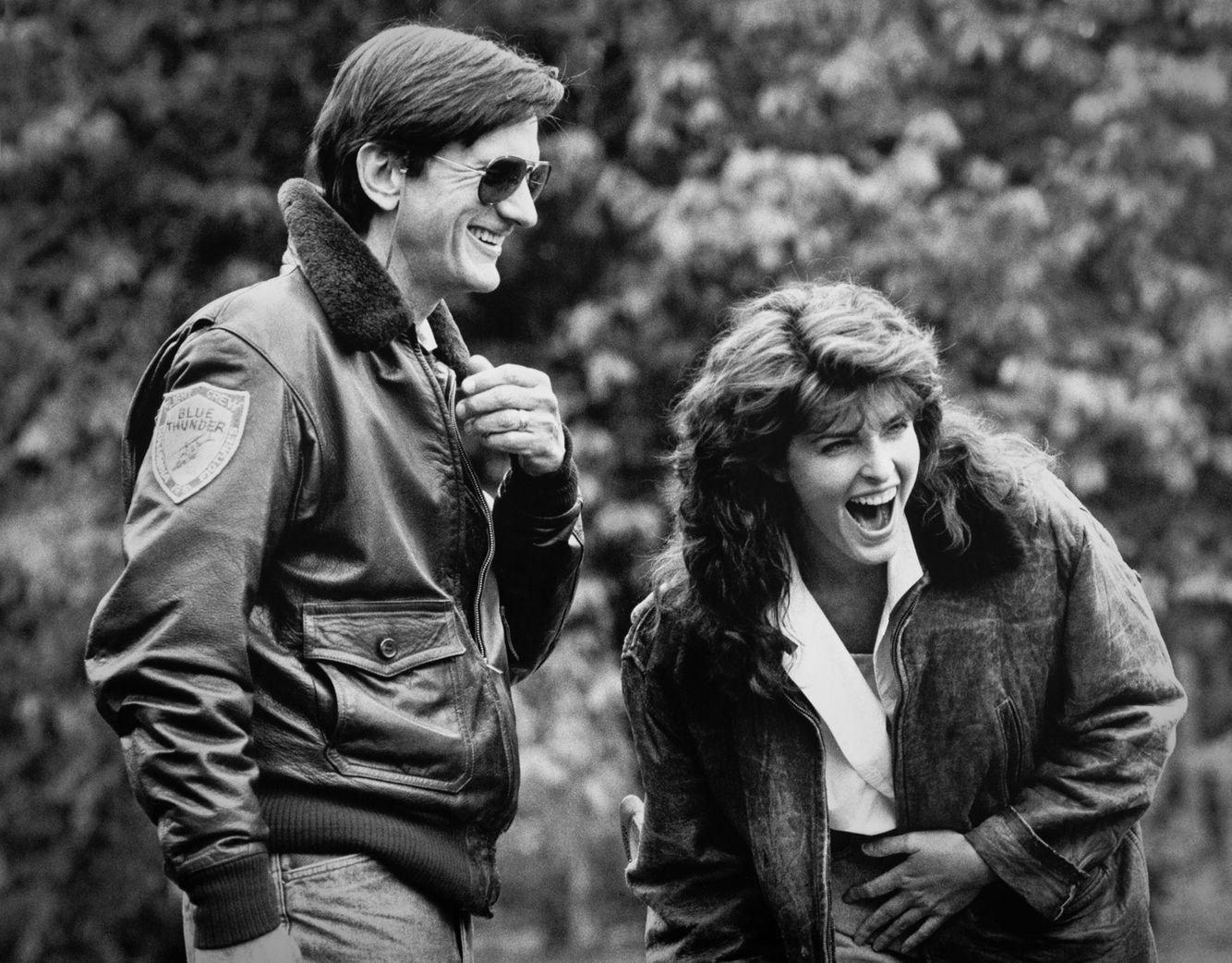 Director John Badham  &  Joan Severance