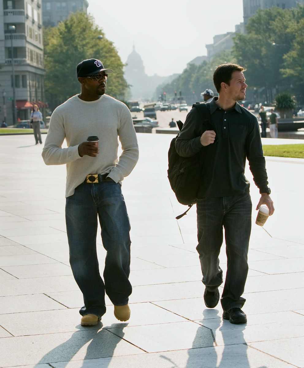 Director Antoine Fuqua & Mark Whalberg in DC