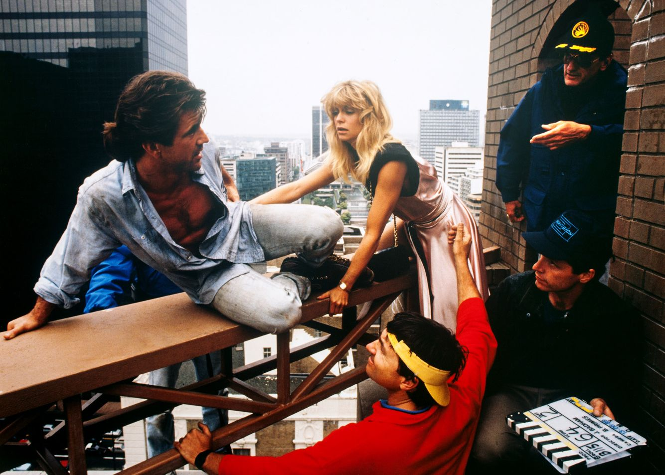 Director John Badham with Mel & Goldie