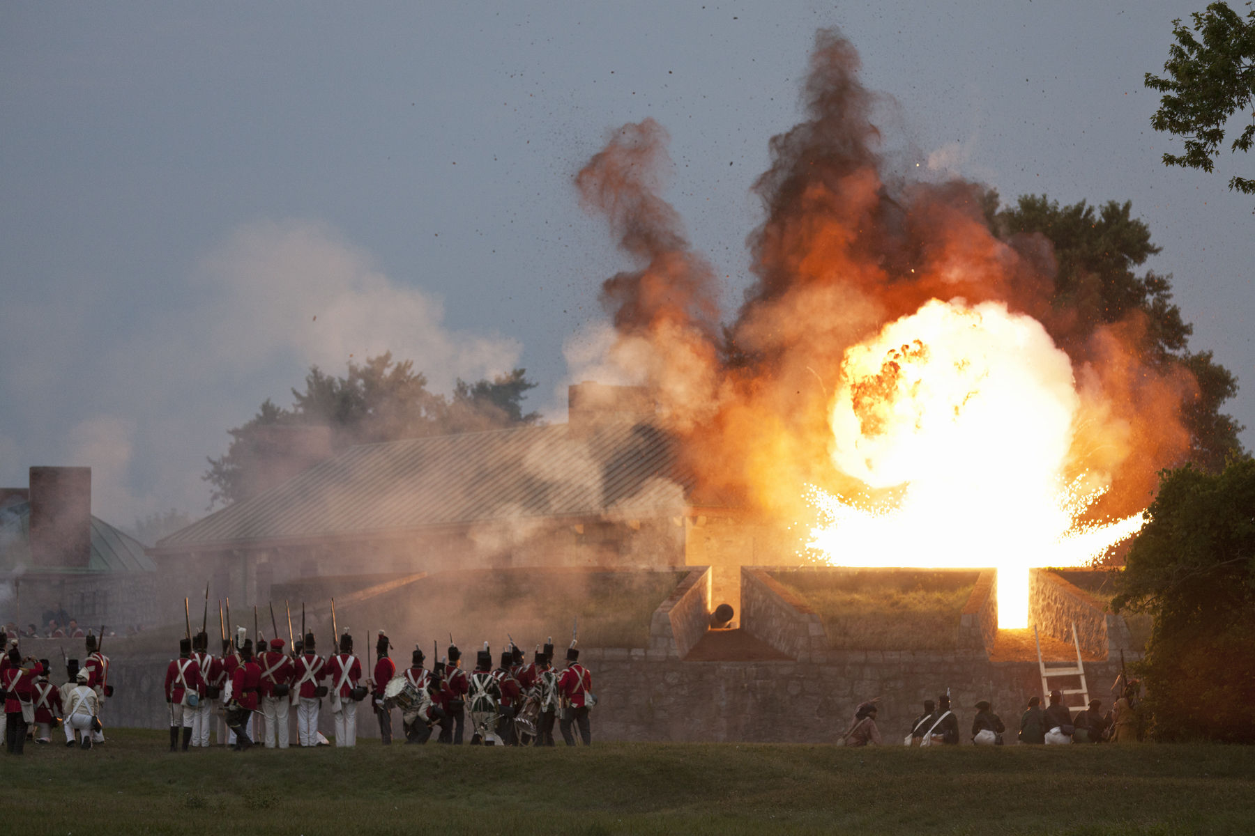 War of 1812 re-enactment of the Siege of Fort Erie