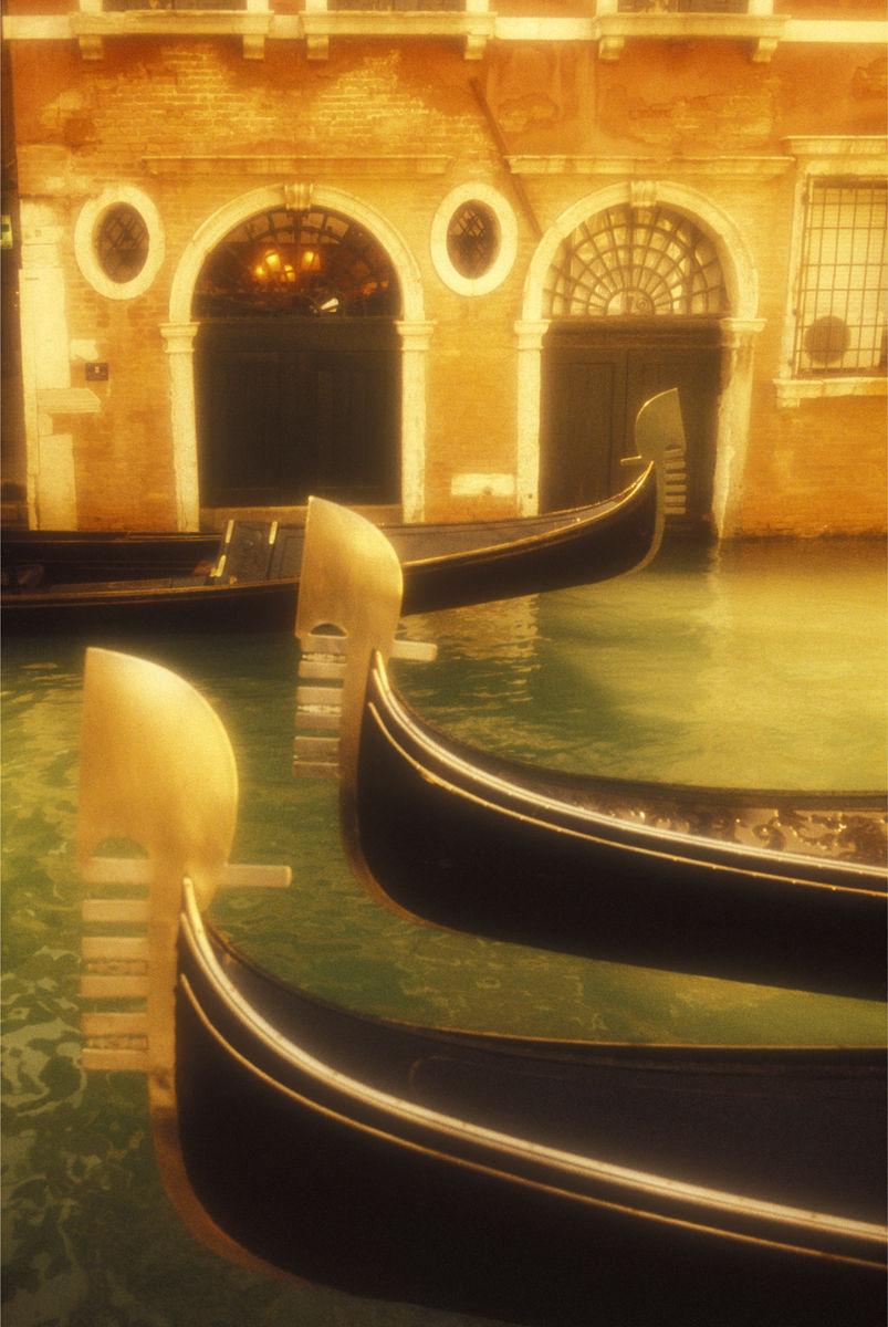 Italy,Venice,gondolas on a canal