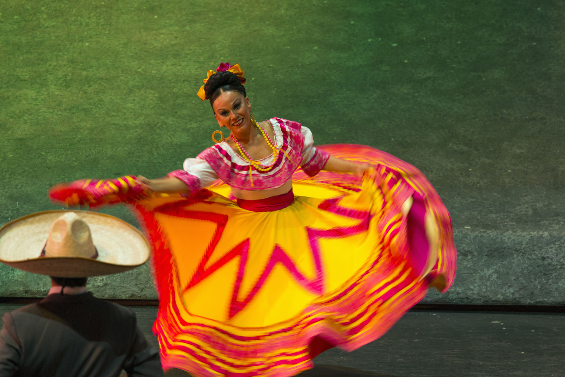 """traditional cultural dance from the state of Tobasco """"Son de La Negra"""" performed at Xcaret Mexico Espectacular"""