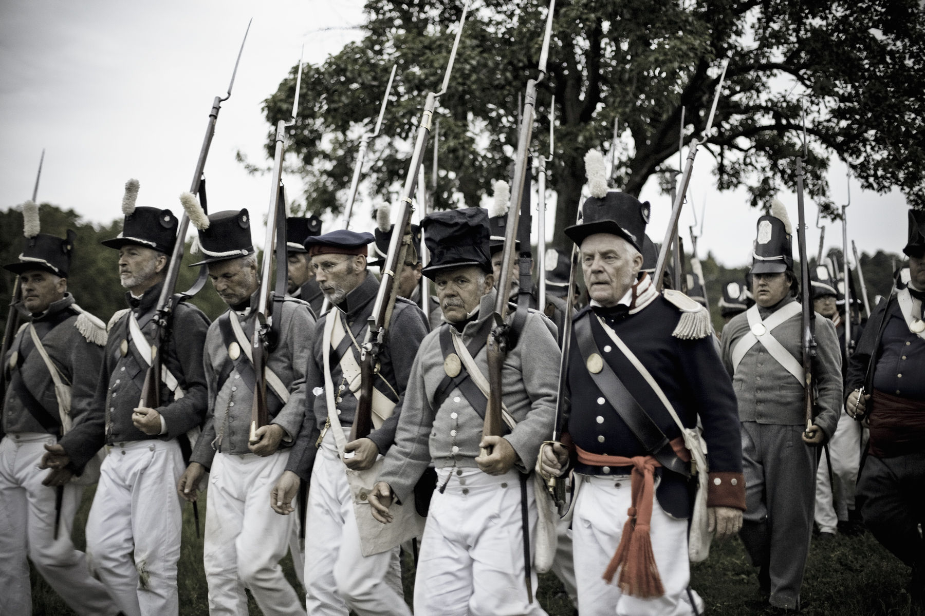 Canada,Ontario,Fort Erie,Old Fort Erie, War of 1812 re-enactment of the Battle of Stoney Creek.The 22nd US Infantry