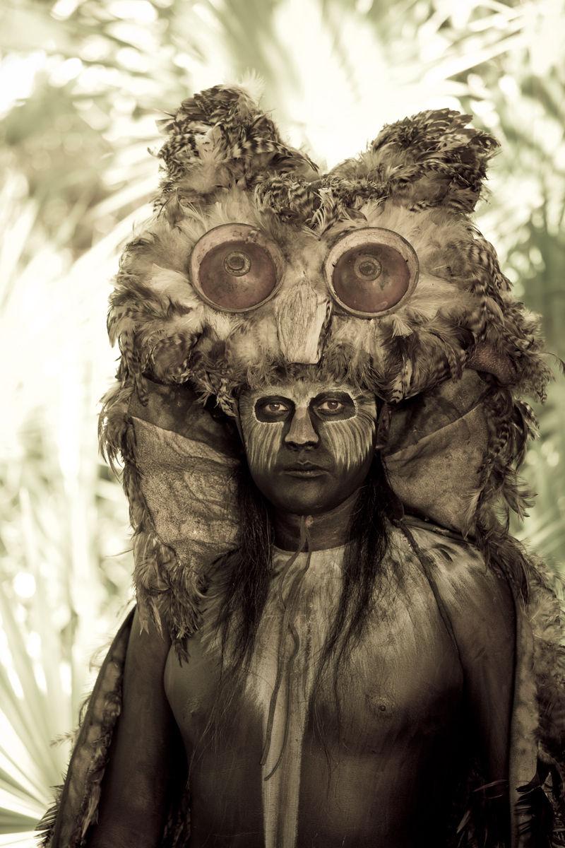 portrait of Mayan god Buho