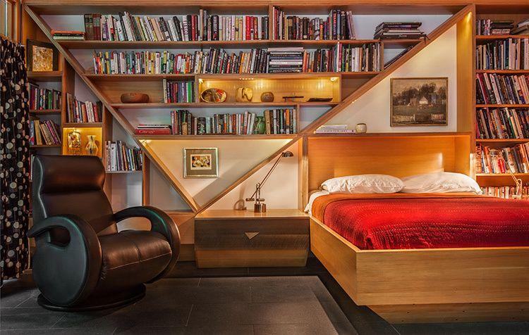 Master bedroom builtins.