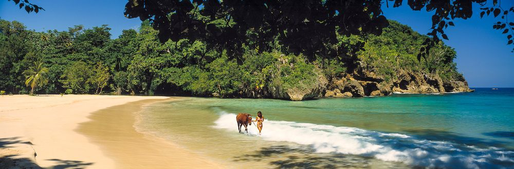 jamaica port antonio frenchmans cove woman and horse.jpg