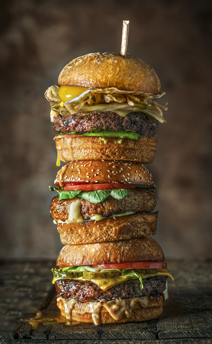 Stack of Burgers