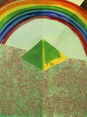 """Rainbow Above Pyramid,"" 2011"