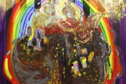 """Earth Chunks and Double Wide Rainbow,"" 2011"