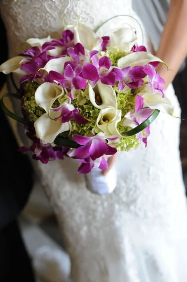 cala and orchid bouquet