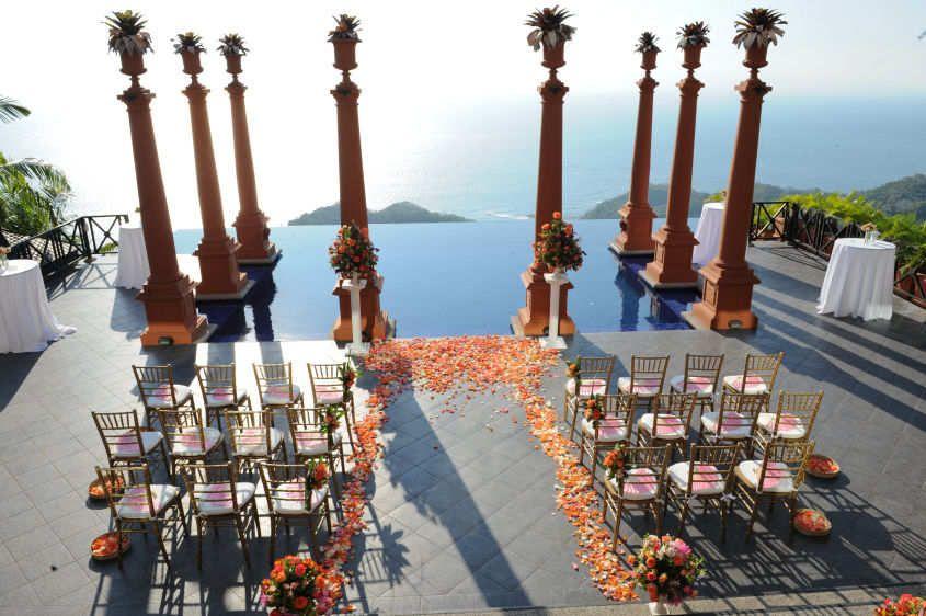 Zephyr palace terrace wedding ceremony