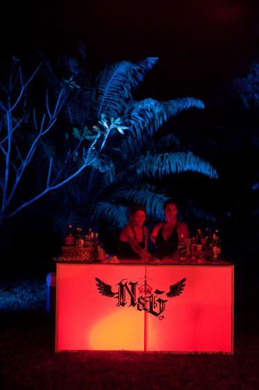 Wedding bar at night