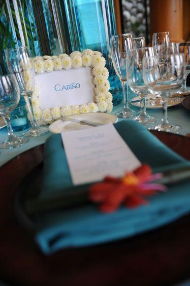 flowered table frame