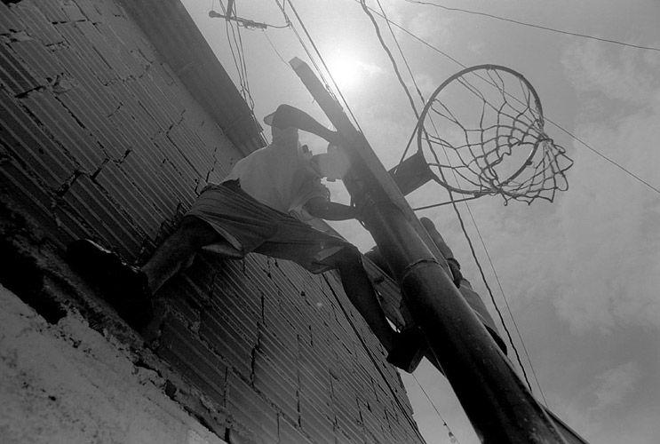 man at basket