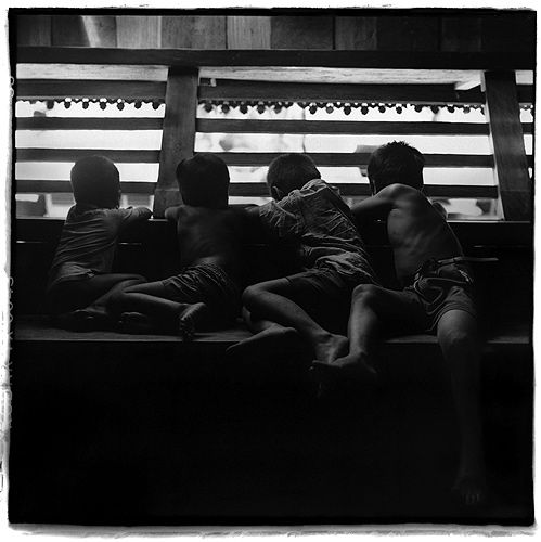 Four Boys Over Looking