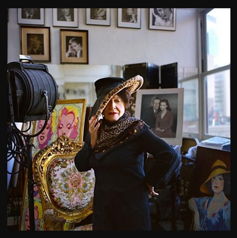 Editta Sherman in her Carnegie Hall studio